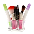 Flower Cosmetic Display Acrylic Cosmetic Organizer Makeup Brushes Holder  with 12 Spaces