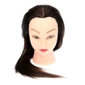 "Brown 24"" Long Hair Dummy Head Hairdressing Styling Training Head Model with Clamp"