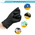 100Pcs/Lot Black Nitrile Gloves Disposable Tattoo Rubber Gloves Powder-free Ambidexterous Three Sizes  S  M  L