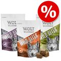 Sparpaket Wolf of Wilderness Snack - Wild Bites 3 x 180 g - High Valley - Rind